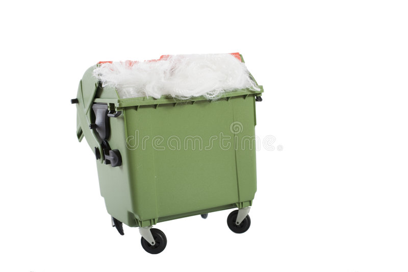 conteneur de carbage plein images stock