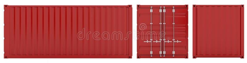 Conteneur de cargaison illustration stock