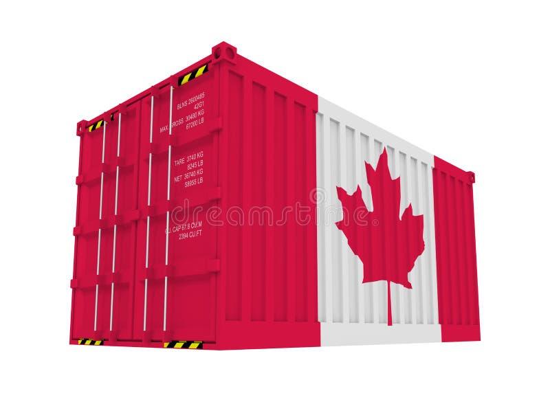 Conteneur de cargaison canadien illustration de vecteur