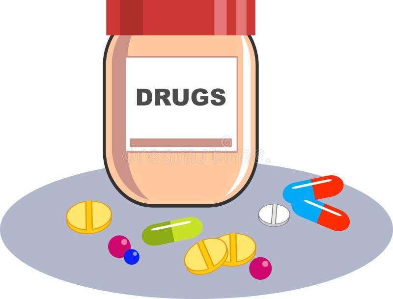 Conteneur de drogues illustration de vecteur