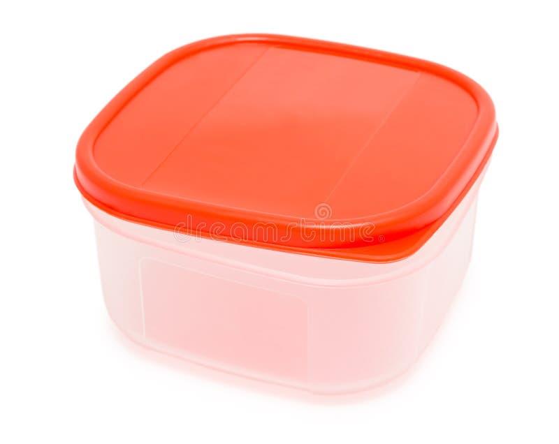Conteneur de nourriture en plastique photo stock