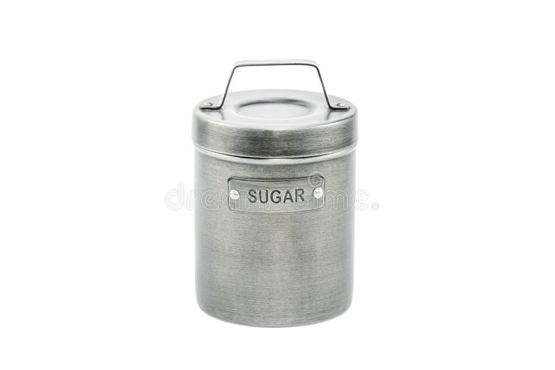 Conteneur pour le sucre sur le blanc photo libre de droits