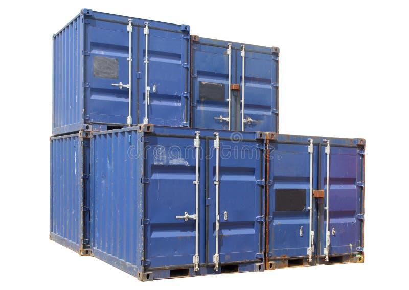 Conteneurs de cargaison de bateau. image stock