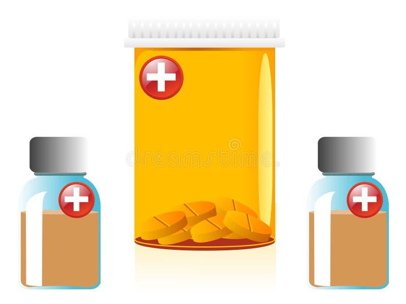 Conteneurs de médecine illustration libre de droits