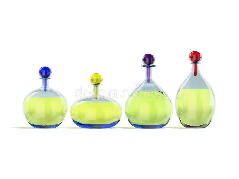Conteneurs en verre avec le liquide illustration de vecteur