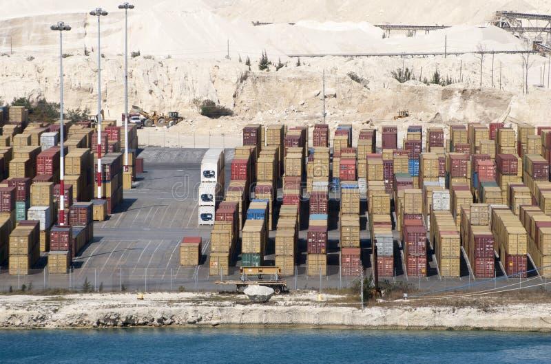 Conteneurs grands de port de Bahama photo stock