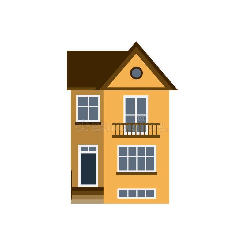 Contenga el apartamento residencial del tejado de la propiedad del estado de la construcción del hogar de la arquitectura del edi stock de ilustración