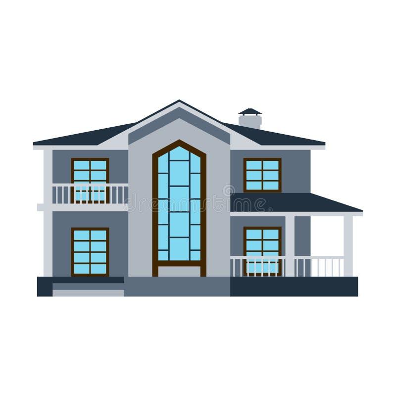 Contenga el apartamento residencial del tejado de la propiedad del estado de la construcción del hogar de la arquitectura del edi ilustración del vector