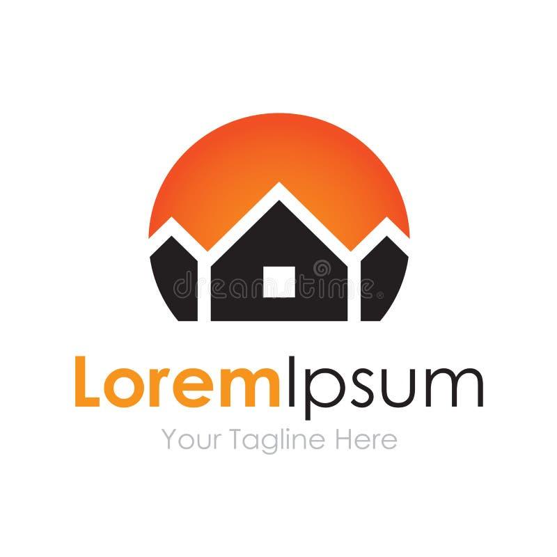 Contenga el logotipo primero del icono del elemento del negocio de las propiedades inmobiliarias libre illustration