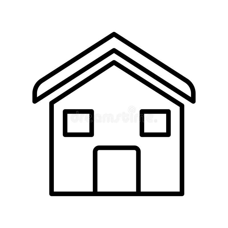 Contenga el vector del icono aislado en el fondo blanco, muestra de la casa, lin stock de ilustración
