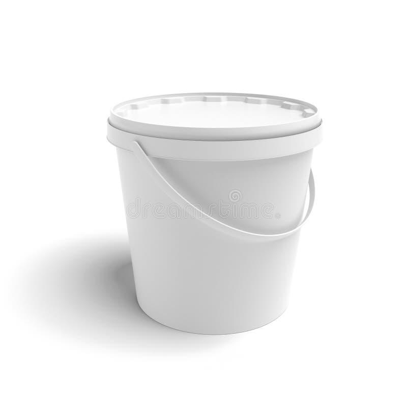 Contenitore bianco illustrazione vettoriale