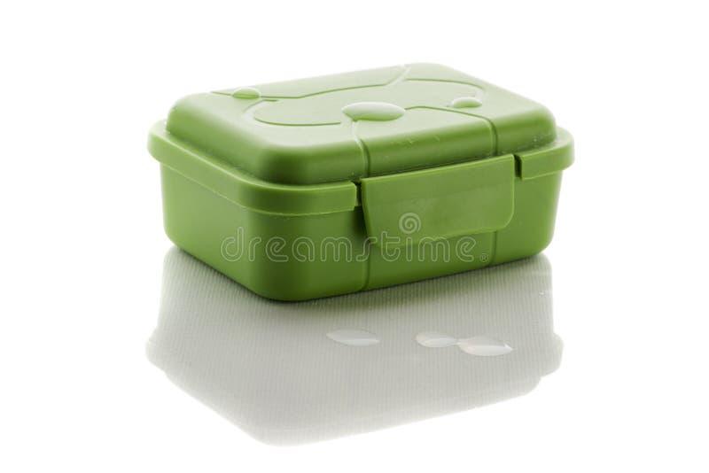 Contenitore chiuso di sapone con le gocce di acqua immagine stock