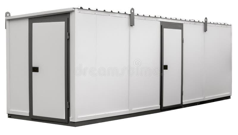 Contenitore del metallo bianco con due porte immagini stock libere da diritti