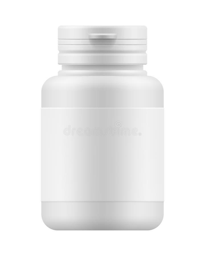 Contenitore del modello per il farmaco illustrazione vettoriale