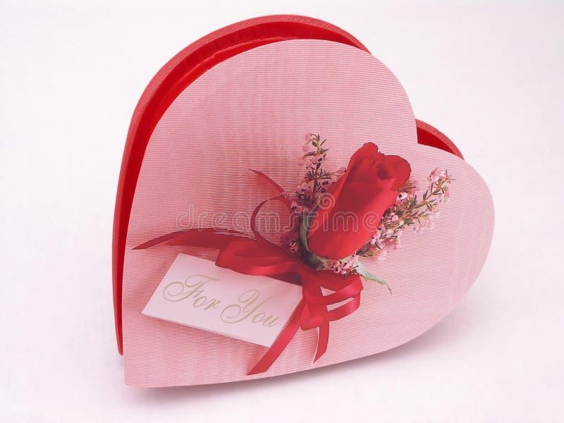 Contenitore di caramella dei biglietti di S. Valentino - sono aumentato 5 fotografie stock