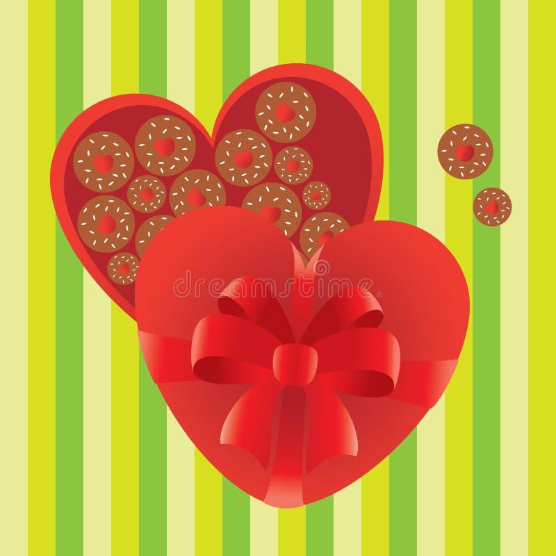 Contenitore di caramella del regalo di amore illustrazione vettoriale