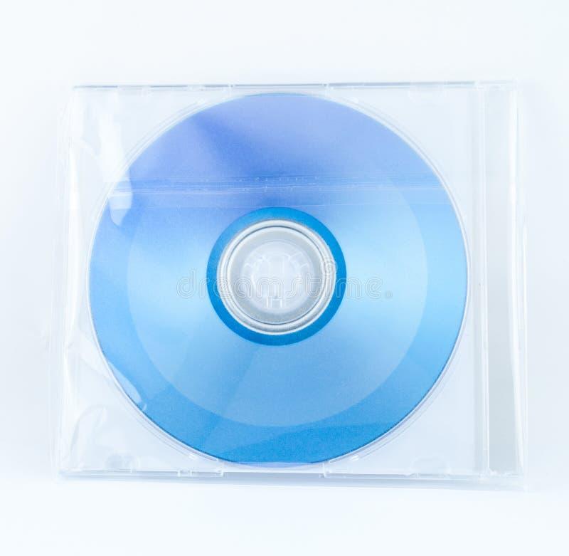 Contenitore di cassa del CD nell'involucro di plastica immagine stock libera da diritti
