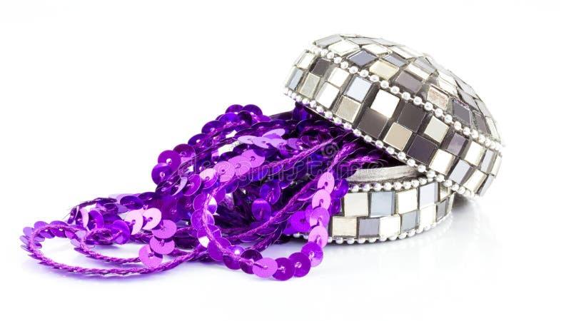 Contenitore di gioielli del mosaico fotografia stock libera da diritti