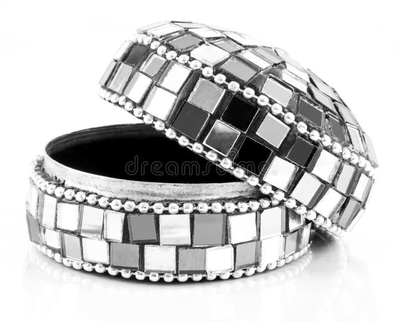Contenitore di gioielli del mosaico fotografie stock libere da diritti