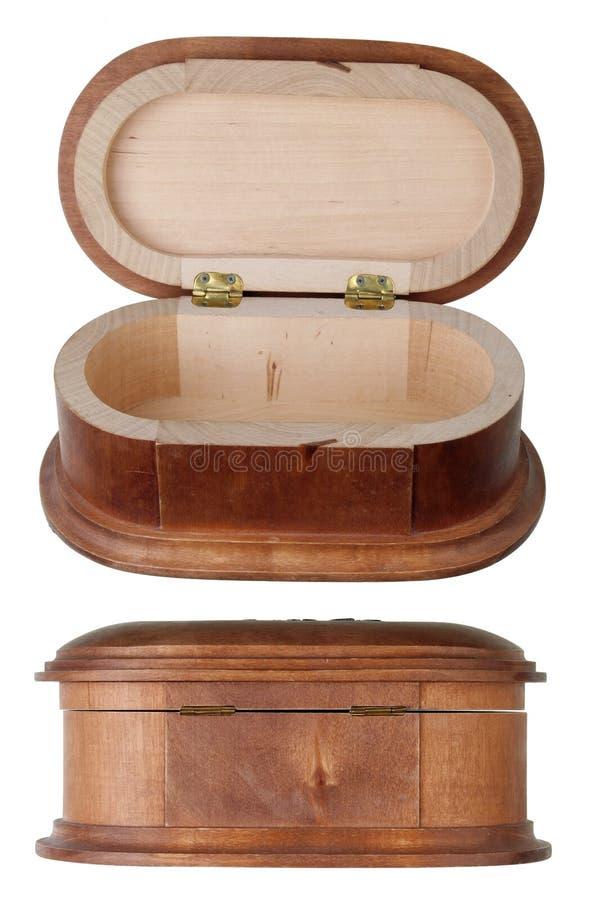 Contenitore di gioielli di legno di fabbricazione in serie immagini stock libere da diritti