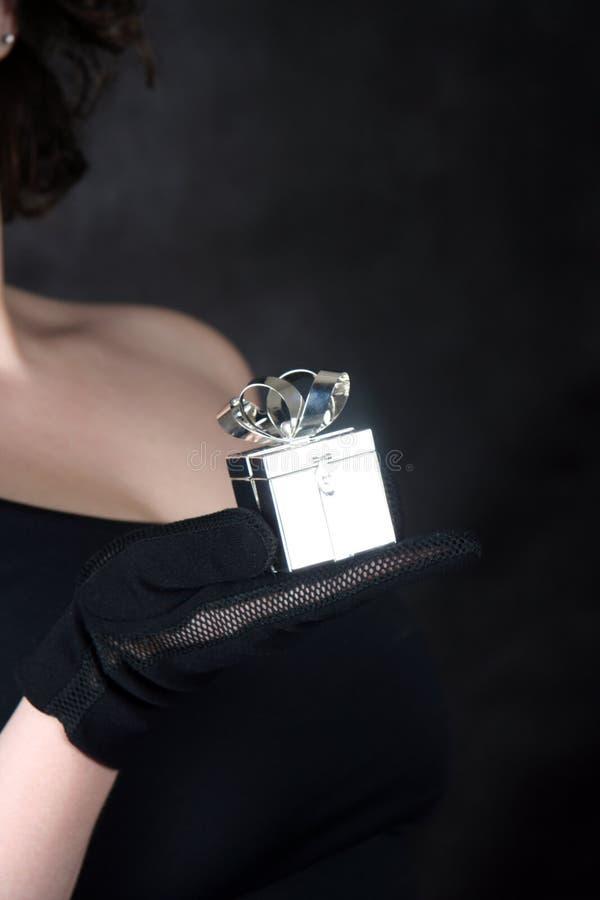 Contenitore di gioiello d'argento immagini stock