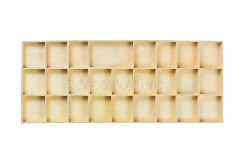 Contenitore di legno della divisione fotografie stock libere da diritti