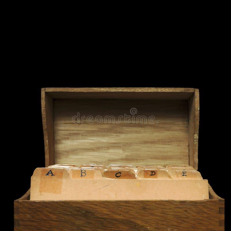 Contenitore di legno di ricetta fotografia stock libera da diritti