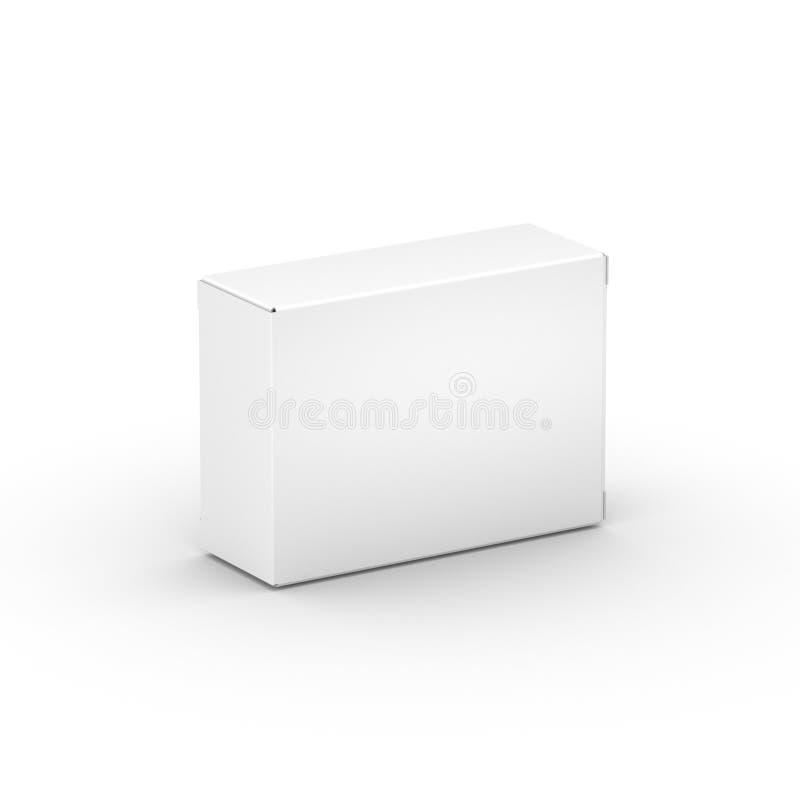 Contenitore di Libro Bianco fotografia stock