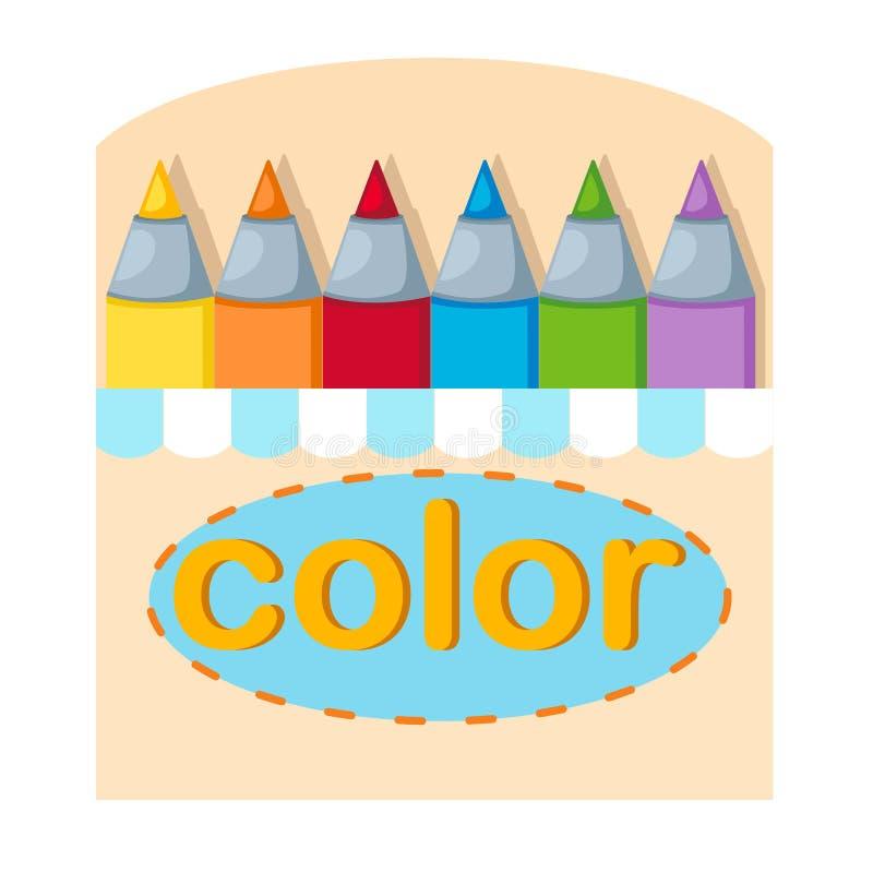 Download Contenitore di pastelli illustrazione vettoriale. Illustrazione di arte - 56877549