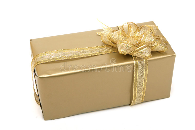 Download Contenitore di regalo fotografia stock. Immagine di cockade - 7304098