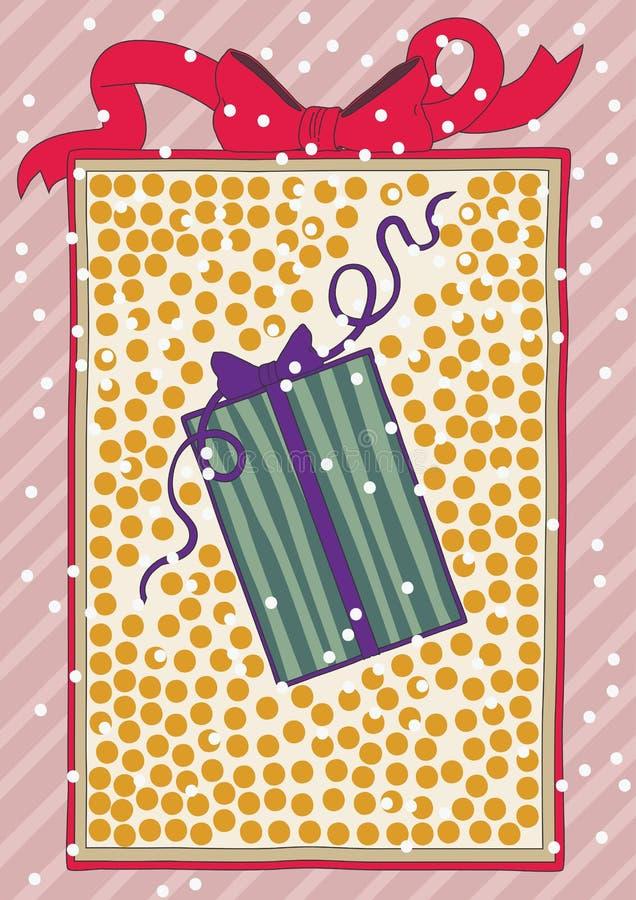 Contenitore di regalo all'interno del contenitore di regalo illustrazione di stock