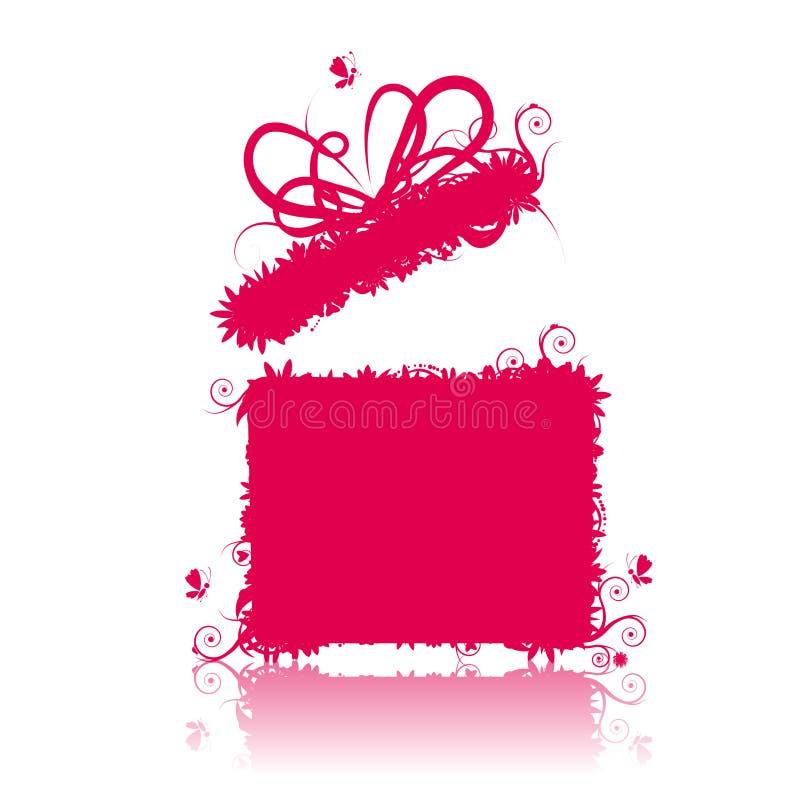 Contenitore di regalo aperto, presente royalty illustrazione gratis