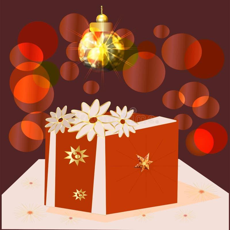 Contenitore di regalo avvolto variopinto Lotti dei presente illustrazione vettoriale