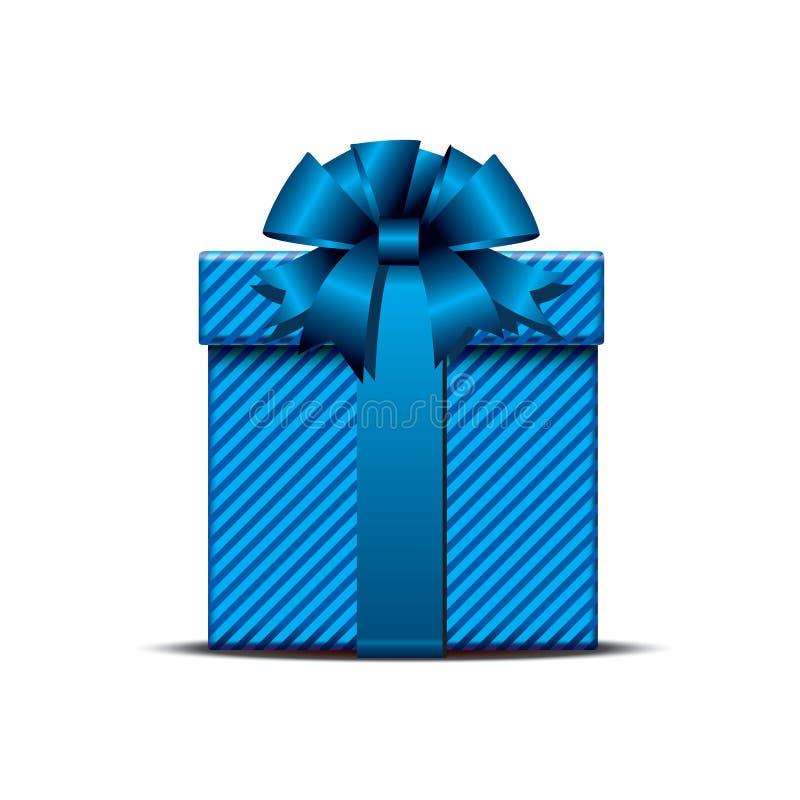 Contenitore di regalo blu illustrazione vettoriale