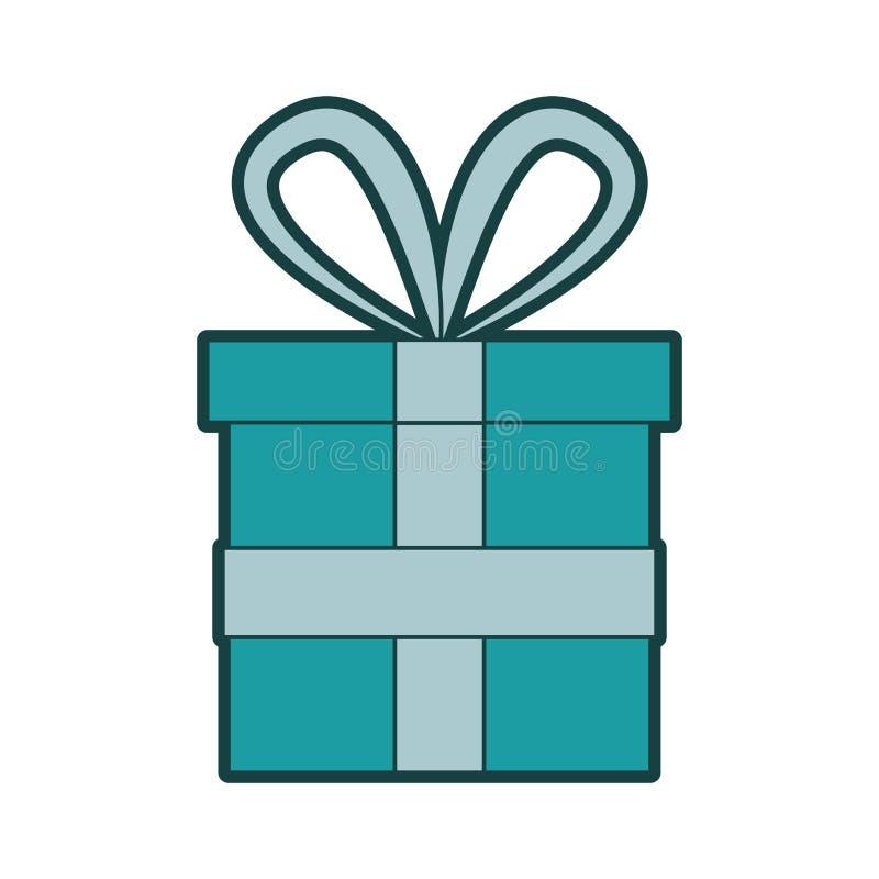 Contenitore di regalo con il nastro illustrazione di stock