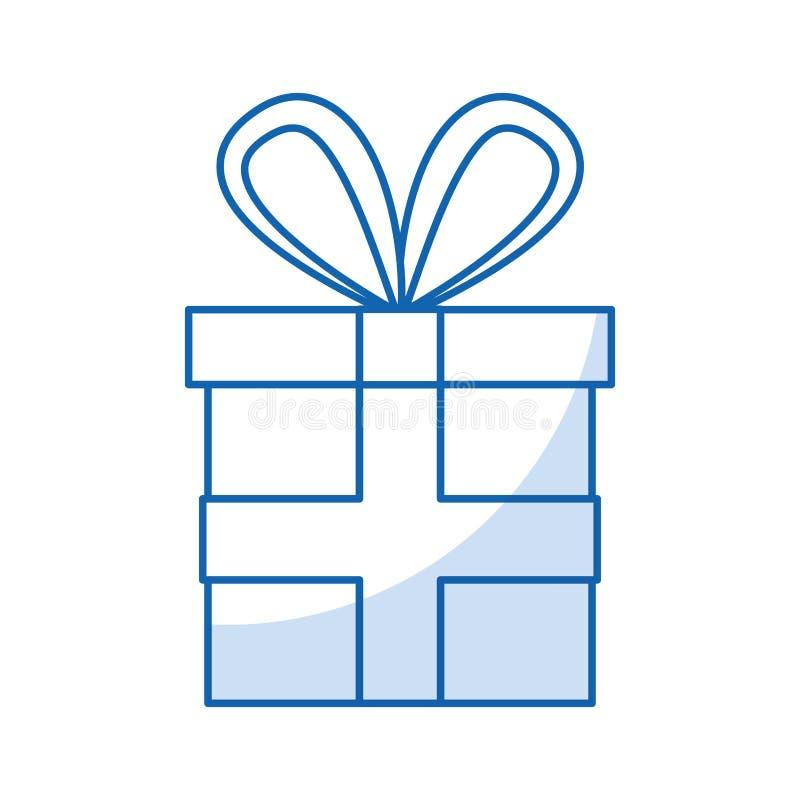 Contenitore di regalo con il nastro royalty illustrazione gratis