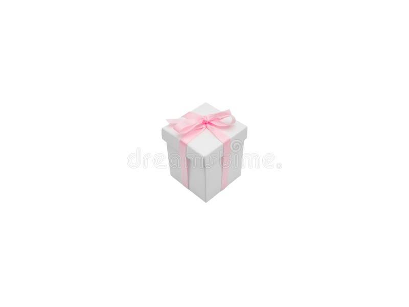 Contenitore di regalo con il nastro isolato su fondo bianco immagini stock