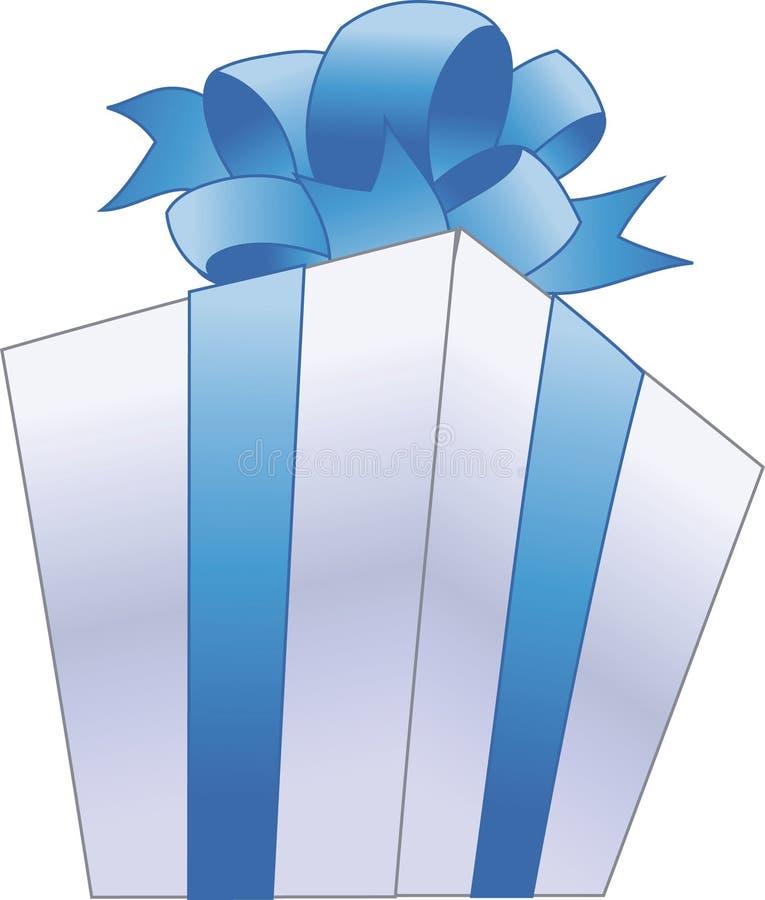 Contenitore di regalo con l'arco illustrazione di stock