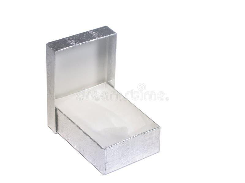 Contenitore di regalo d'argento fotografia stock libera da diritti
