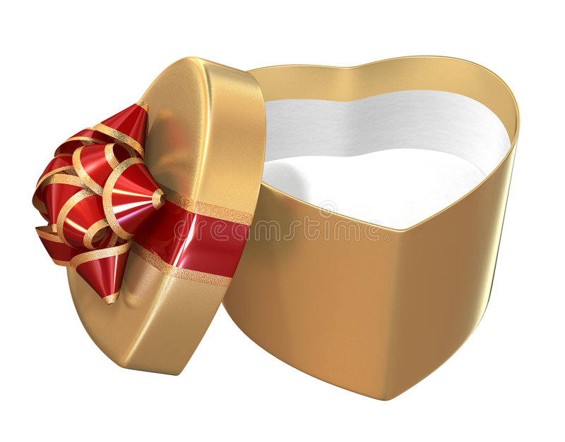 Contenitore di regalo dei biglietti di S. Valentino immagine stock libera da diritti