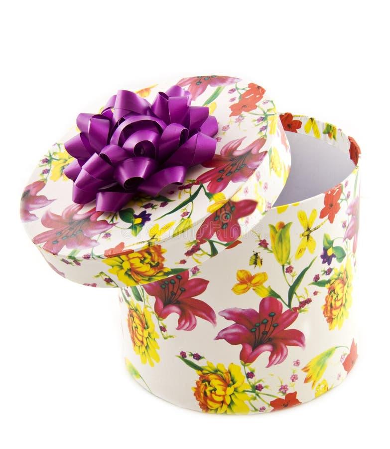 Contenitore di regalo del fiore immagine stock