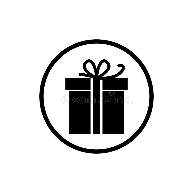Contenitore di regalo dell'icona di vettore illustrazione vettoriale
