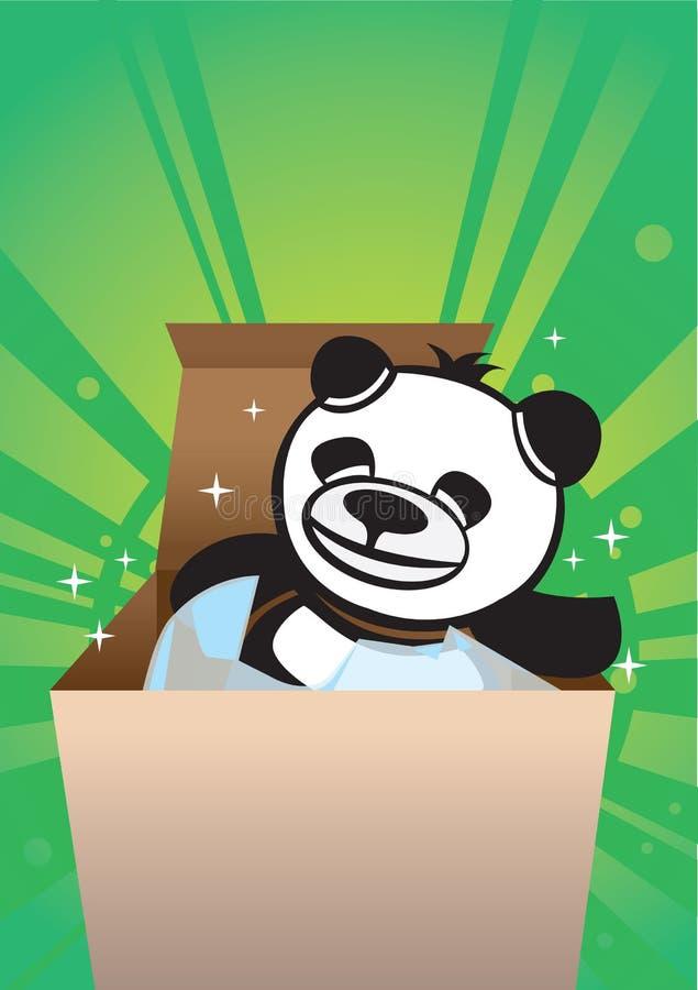 Contenitore di regalo dell'orso del panda illustrazione di stock