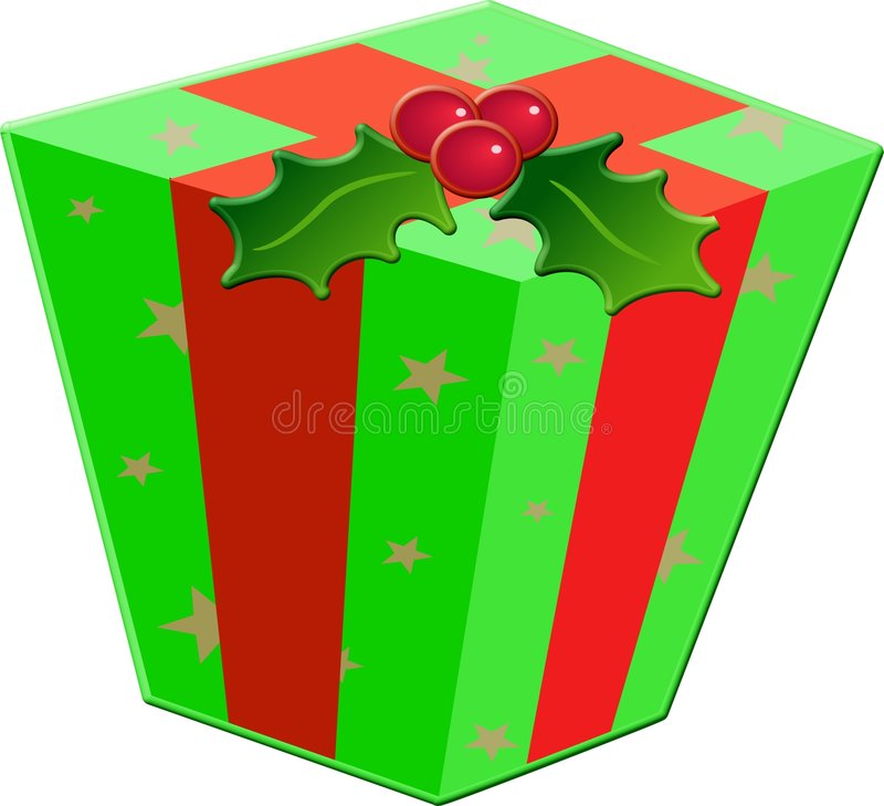 Contenitore di regalo di natale illustrazione di stock