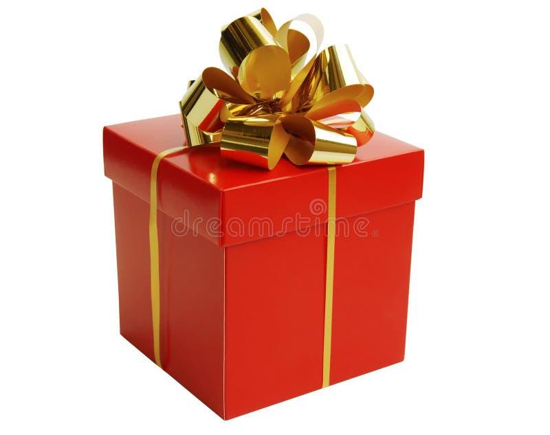 Contenitore di regalo di natale immagini stock