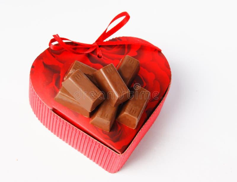 Contenitore di regalo e di cioccolato fotografie stock