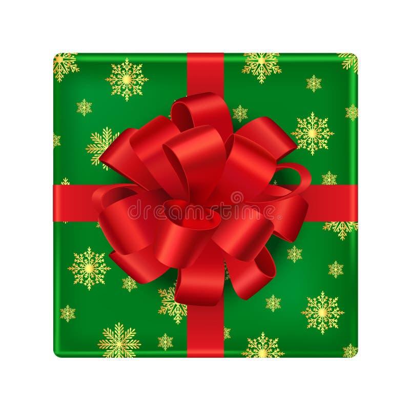 Contenitore di regalo isolato su priorità bassa bianca illustrazione vettoriale