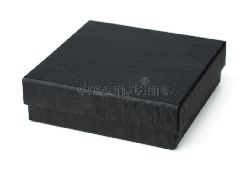 Contenitore di regalo nero fotografia stock libera da diritti