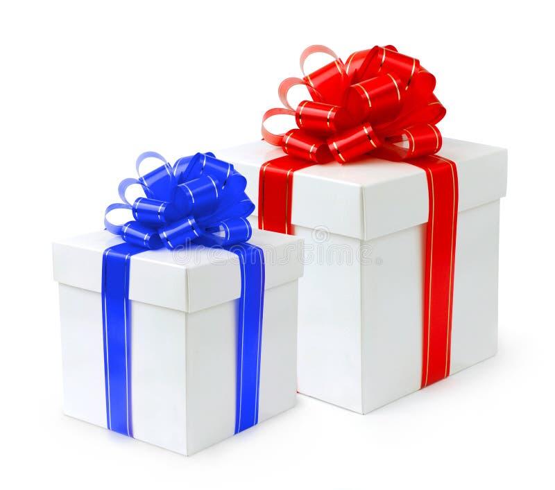 Contenitore di regalo operato della festa fotografie stock