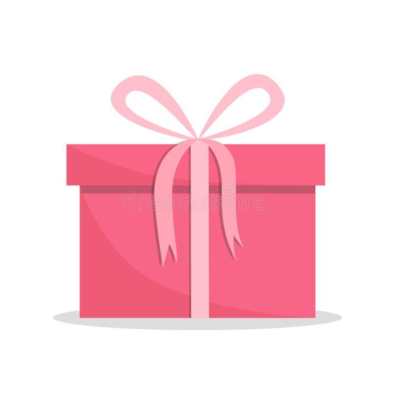 Contenitore di regalo rosa isolato su fondo bianco Variopinto avvolto Presente isolati su bianco Vendita, concetto di compera Rac royalty illustrazione gratis
